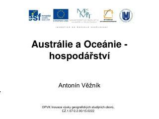 Austrálie a Oceánie - hospodářství