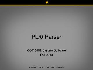 PL/0 Parser