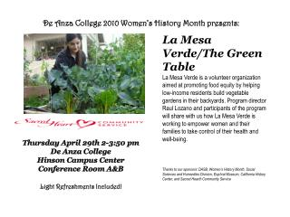 De Anza College 2010 Women's History Month presents: