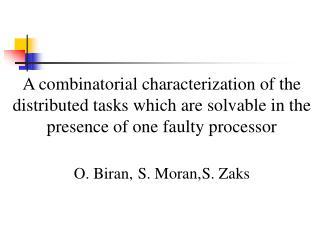 O. Biran,S. Moran,S. Zaks