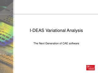 I-DEAS Variational Analysis