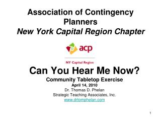 Association of Contingency Planners New York Capital Region Chapter