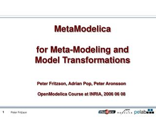 MetaModelica for Meta-Modeling and Model Transformations