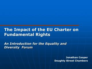 The Impact of the EU Charter on Fundamental Rights