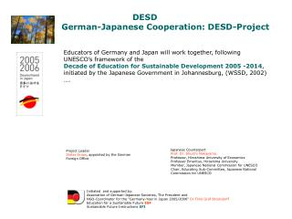 DESD German-Japanese Cooperation: DESD-Project