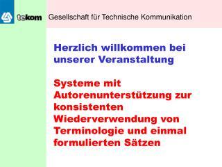 Gesellschaft f�r Technische Kommunikation