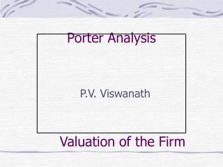 Porter Analysis
