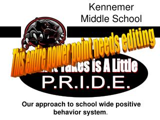 Our approach to school wide positive behavior system .