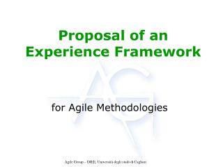 Proposal of an Experience Framework