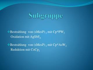 Subgruppe