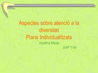 Què és un pla Individualitzat ?