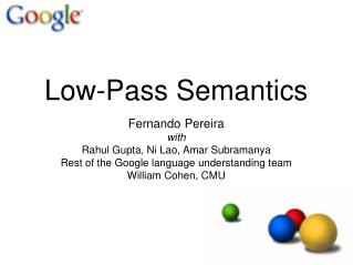 Low-Pass Semantics