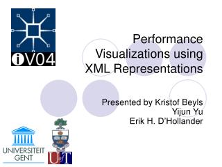 Performance  Visualizations using  XML Representations