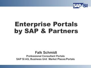 Enterprise Portals by SAP & Partners