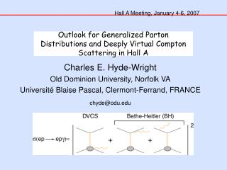 Outlook for Generalized Parton Distributions and Deeply Virtual Compton Scattering in Hall A