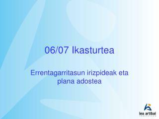 06/07 Ikasturtea
