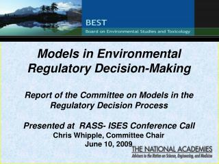 Models in Environmental Regulatory Decision-Making
