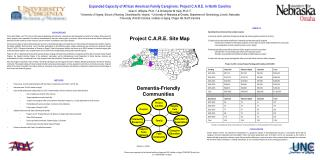 Expanded Capacity of African American Family Caregivers: Project C.A.R.E. in North Carolina
