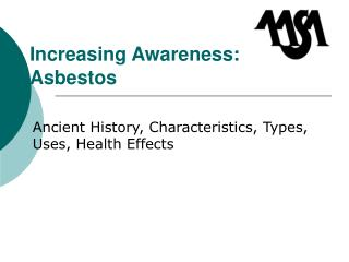 Increasing Awareness: Asbestos