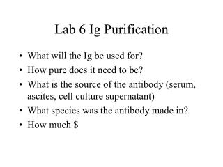 Lab 6 Ig Purification