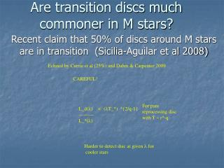 Are transition discs much commoner in M stars?