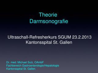 Theorie  Darmsonografie