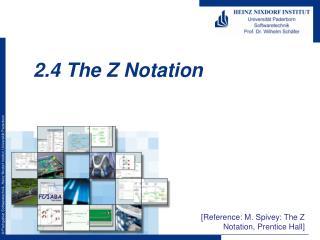 2.4 The Z Notation