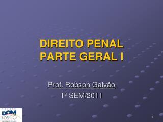 DIREITO PENAL PARTE GERAL I