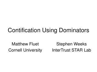 Contification Using Dominators
