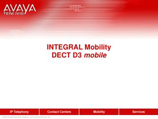 INTEGRAL Mobility DECT D3  mobile