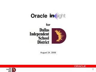 Oracle for August 24, 2006