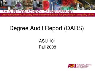 Degree Audit Report (DARS)