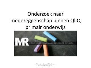 Onderzoek naar medezeggenschap binnen QliQ primair onderwijs