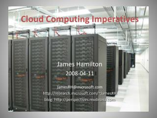 Cloud Computing Imperatives