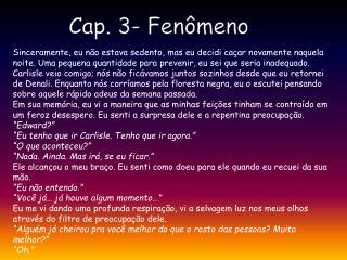 Cap. 3- Fenômeno