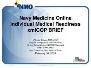 Individual Medical Readiness