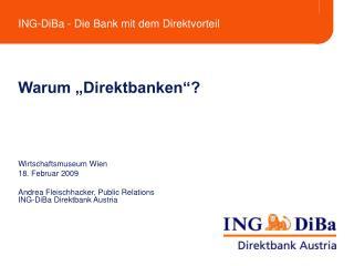 """Warum """"Direktbanken""""?"""