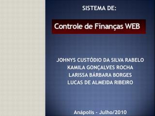 SISTEMA DE: