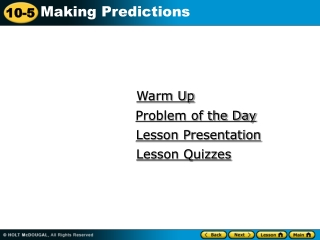 Lesson 5: Simple techniques for weather forecasting