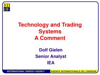 Technology and Trading Systems  A Comment