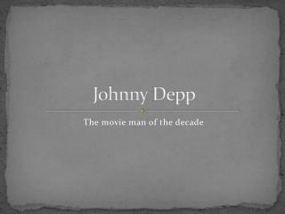 Johnny  D epp