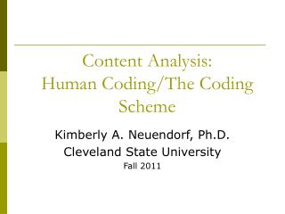 Content Analysis: Human Coding/The Coding Scheme