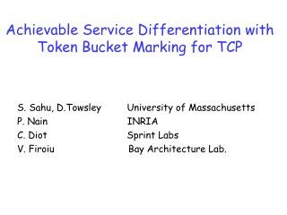 Achievable Service Differentiation with Token Bucket Marking for TCP