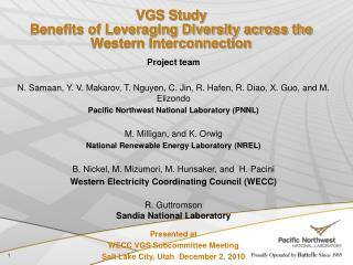 VGS Study Benefits of Leveraging Diversity across the Western Interconnection