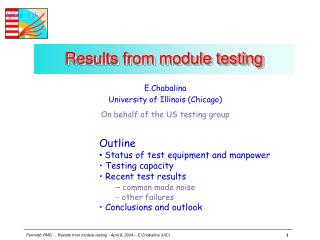 Results from module testing