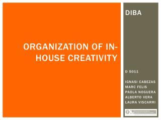ORGANIZATION OF IN-HOUSE CREATIVITY
