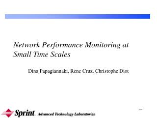 Network Performance Monitoring at Small Time Scales