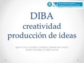 DIBA creatividad  producción de ideas