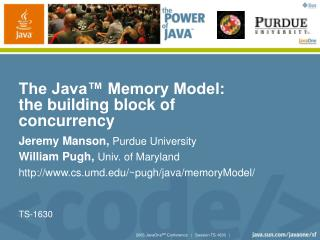 The Java  Memory Model: the building block of concurrency