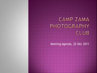 Camp Zama photography club